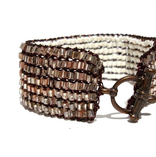 Chic Metallic Cuff Bracelet Reversible Jewelry by lapisbeach, $95.00