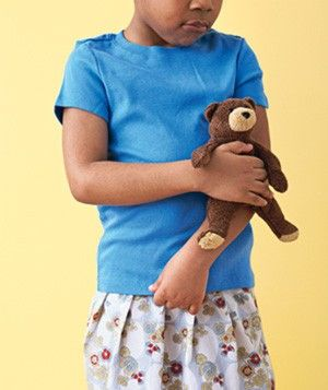 Toy animal used as child's ice pack