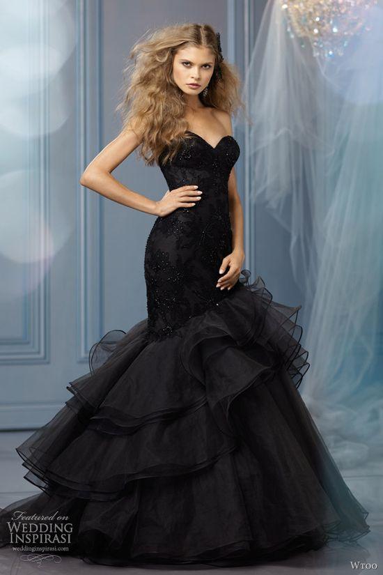 Daring Black! Wtoo Wedding Dresses Spring 2013