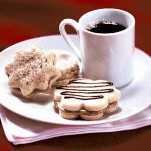 Coffee-and-Cream Sandwich Cookies