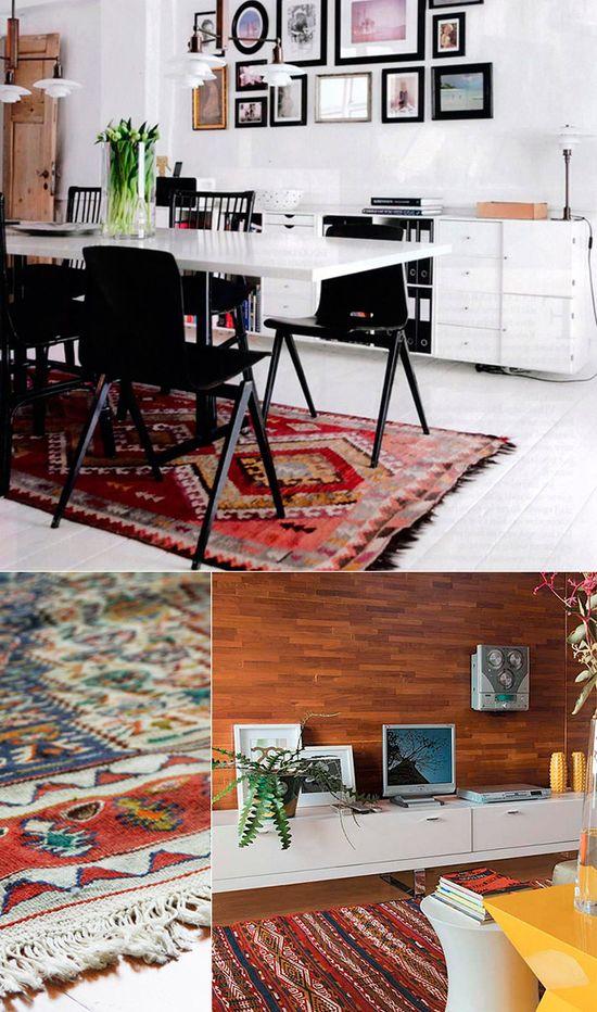 O charme de decorar com tapetes! Mais ideias nesse link: www.casadevalenti... #decor #decoracao #tapete #rug #interior #design #details #detalhe #casadevalentina