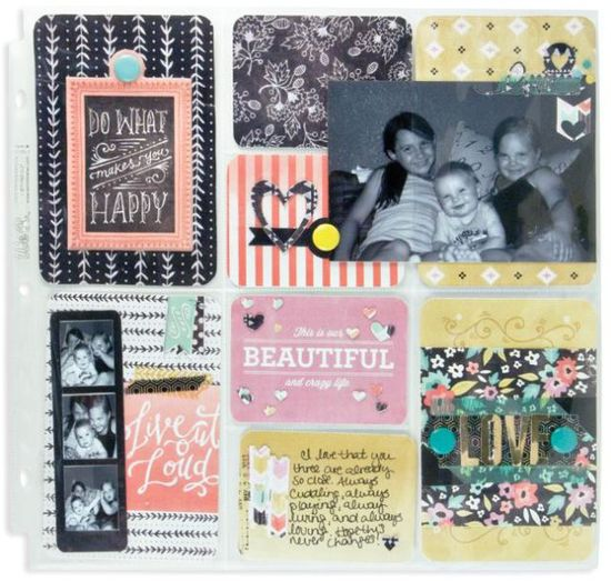 #papercraft #scrapbook #layout Brand New Chalkboard Collection from We R Memory Keepers - Scrapbook.com