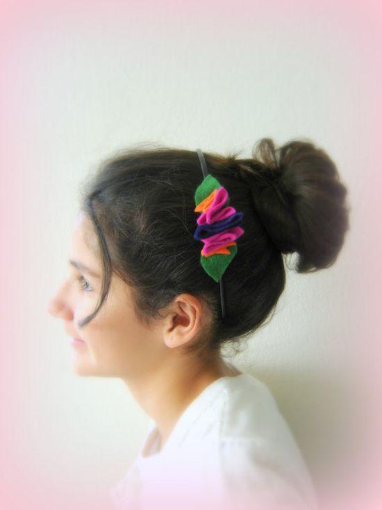 Multicolored headband. Pink hairband. Handmade by BBBsDesigns, $8.00