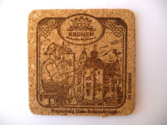 Vintage Cork Coasters Twelve Beer Glass by PortugueseWonders, $5.00