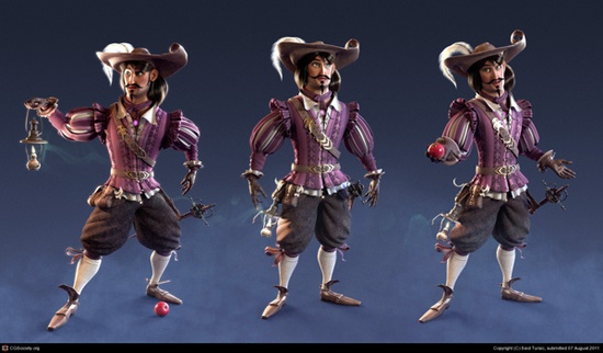 3D Character Portfolio by Seid Tursic, via Behance