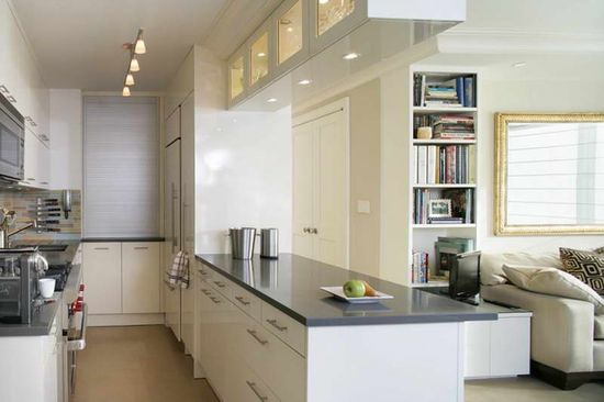 kitchen design ideas small spaces with bookcase