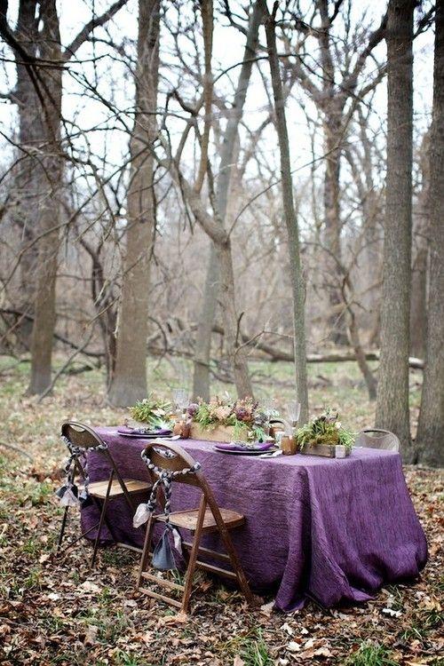 Purple Bohemian Setting...love!