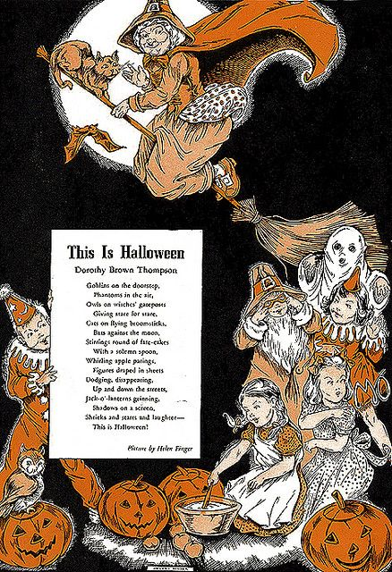 This is Halloween----Vintage Halloween Illustration--Child Life Magazine