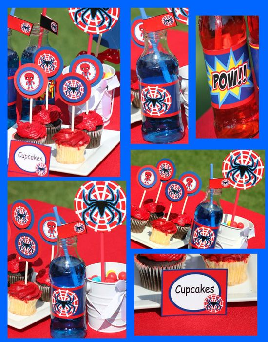 SPIDERMAN Party  Complete Package  Boy Birthday by KROWNKREATIONS, $25.00
