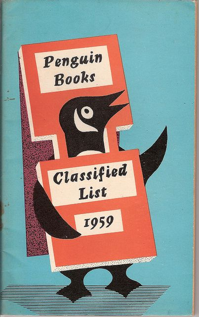 Penguin Classified list 1959, via Covers etc