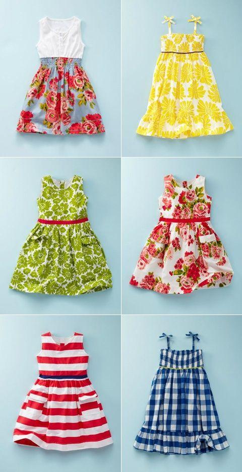 Gorgeous little girls dresses.