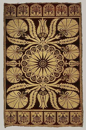 Cushion cover, 17th century; Ottoman...lovely #motif