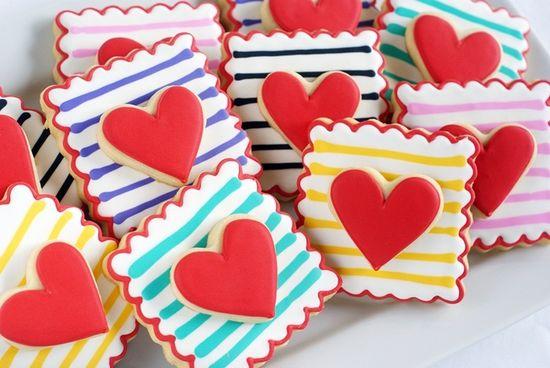 double-decker striped hearts