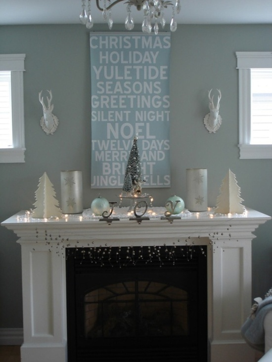 My Holiday mantle should look like this!  Absolutely gorgeous.