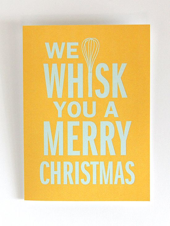 We Whisk You a Merry Christmas :: Greeting card