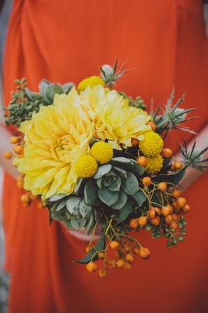 succulent, berry, and floral bouquet // photo by SeanFlanigan.net