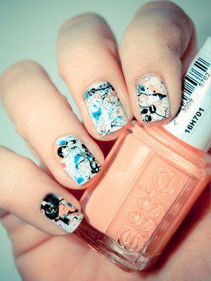 Graffiti Splatter #nailart #nails #nail #manicure