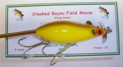 Handmade wooden fishing lure.