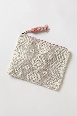 Geo Beaded Pouch by Jasper & Jeera