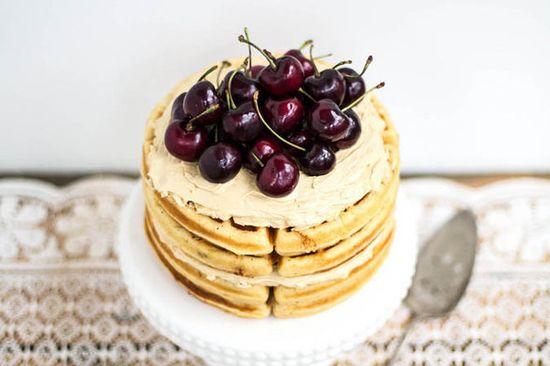 Waffle cake! #recipe