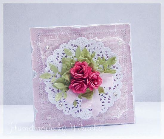 Romantic wedding card with roses