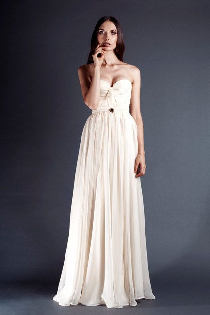 Ivory Annie Wedding Gown Silk Hand Gathered Bustier by reddoll, $995.00  -It's in my top 5-