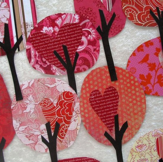 Paper Trees Valentine's Day, door decs