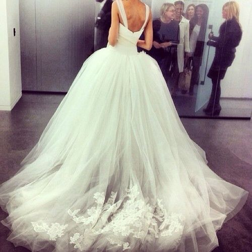 #stunning #wedding #dress #back #detail #look - for more #bridal #inspiration, MyBeautyCompare Pinterest #bride #marriage #dress # slit #chiffon #hair #makeup #eyes #lips #stunning #glam #chic #amazing #beautiful #sophisticated #gorgeous