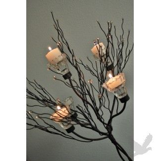 """Metal Candle Tree W/Clear Holders 36\"""" Tall / 5 Cups BEST SELLER!"""