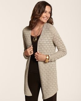 Chico's Travelers Collection Harlow Shimmer Cardigan