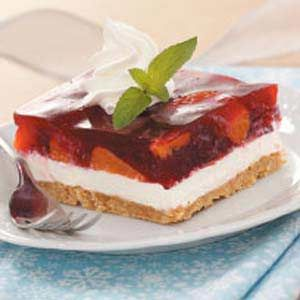 Cranberry layered dessert (the picture looks like strawberry, which I have made and it's DELICIOUS!! but the recipe is for cranberry and it looks really yummy too)