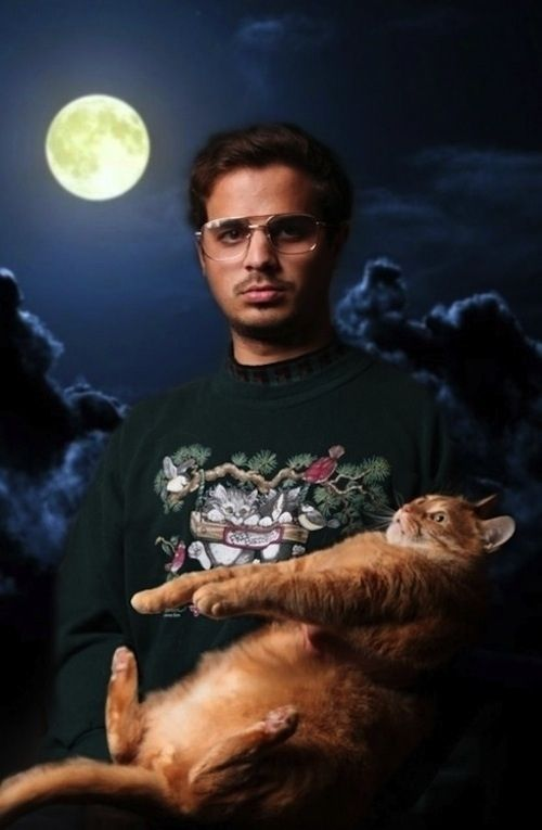 weird photos of people and their pets