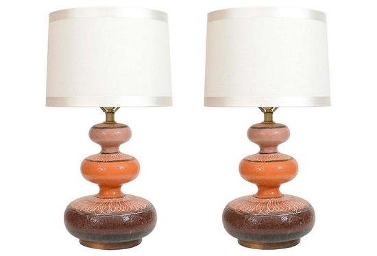 Lampshades! (One Kings Lane - Lamps, Lanterns & Beyond - Italian Triple-Gourd Lamps, Pair)