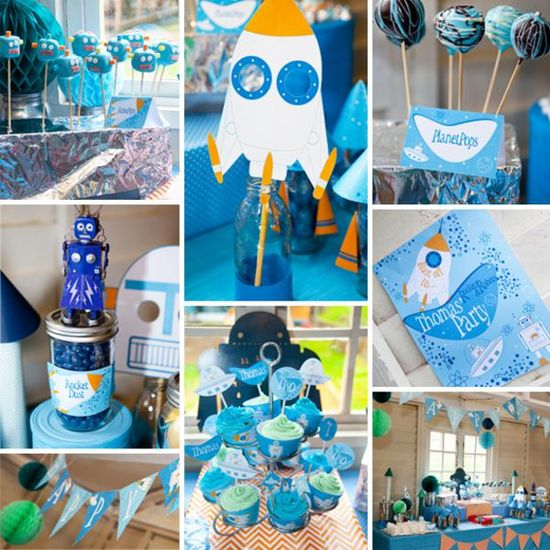 Wonderful idea for my little guys first birthday! Rockets Robots + Space Themed Birthday Party Planning via Kara's Party Ideas - www.KarasPartyIde...