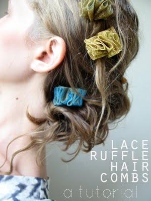 Lace Ruffle Hair Combs: A Tutorial
