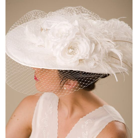 A lovely Victorian style wedding hat.