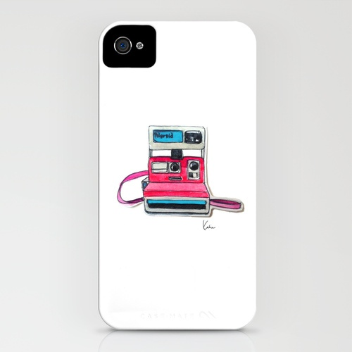 cute Polaroid iPhone Case designed by my friend @paperfashion