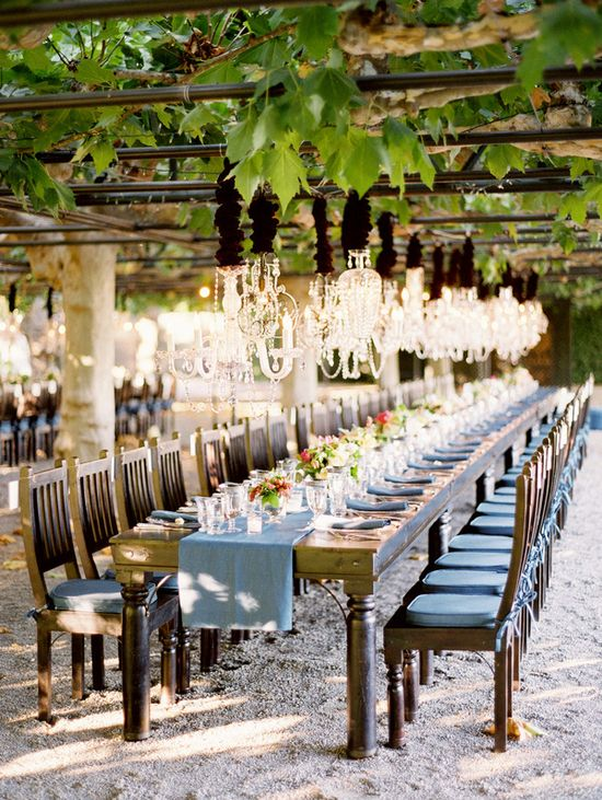 Love this setup for wedding reception at a winery