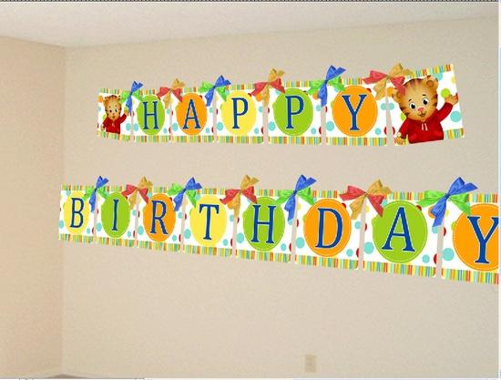 Cute Daniel Tiger Digital Pennant Birthday Banner, DIY Print. $3.99, via Etsy.