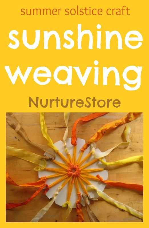 Beautiful sun weaving - perfect solstice craft for kids!