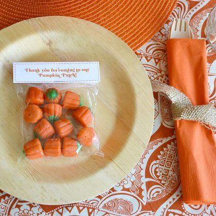 Pumpkin Candy Place Settings