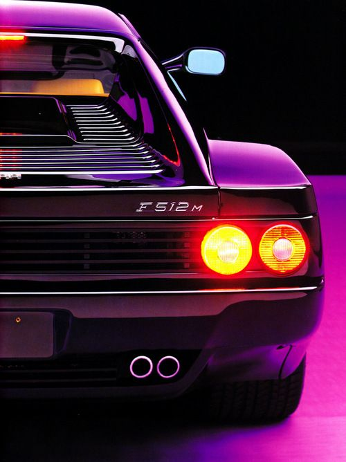 Ferrari Testarossa. My dream car. In purple too ?