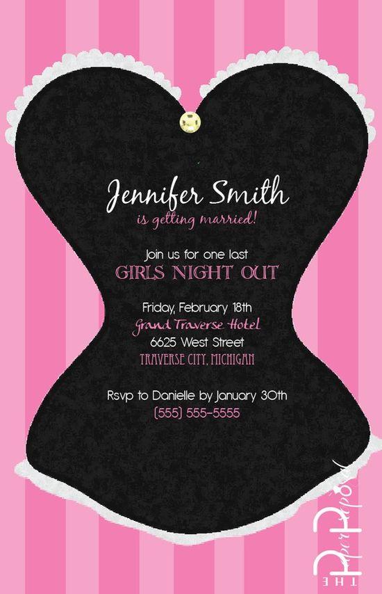 Classy Corset Bachelorette Party Invite