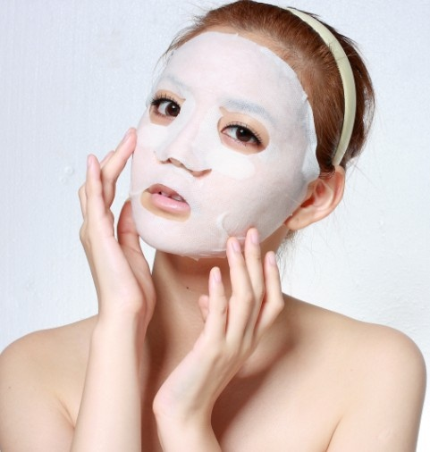 Homemade facial mask from natural ingrediants