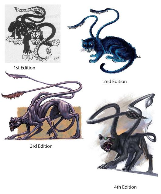 Fruitless Pursuits: D&D Day by Day - The Displacer Beast
