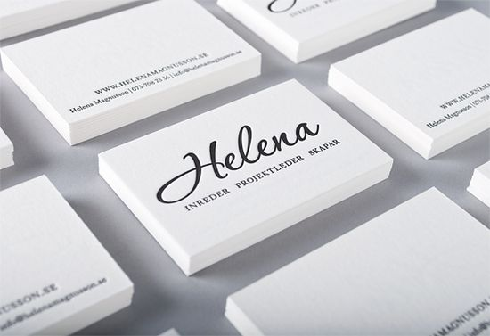 Business card for swedish Interior designer