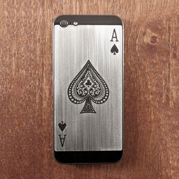 Etched steel iPhone cases. These are epic!