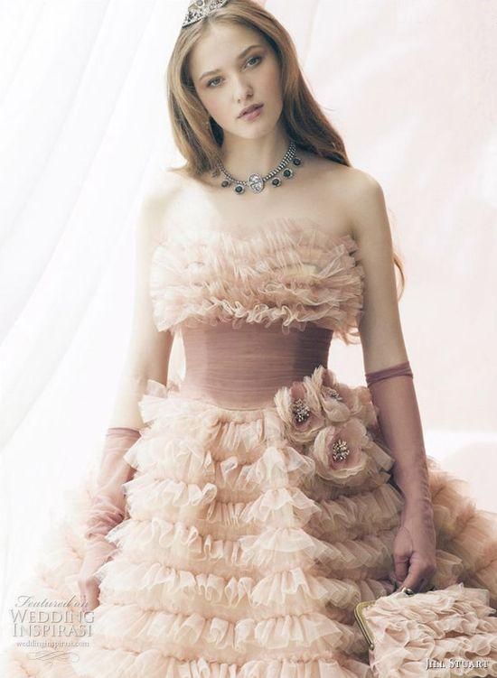 Romantic Wedding Dresses by Jill Stuart..... more at  weddinginspirasi....