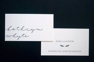 kathryn whyte business cards