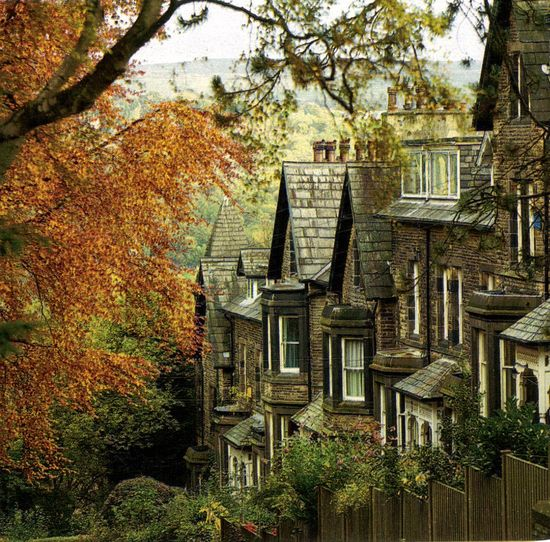 autumn and victorian houses